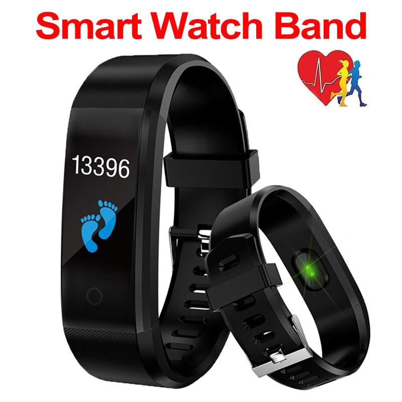 Pulseira inteligente esporte saúde pulseira freqüência cardíaca pressão arterial banda inteligente atividade rastreador de fitness smartband