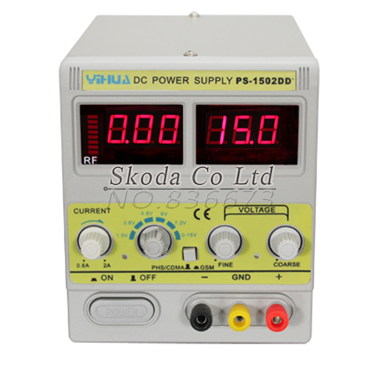 ФОТО Wholesale Mobile phone repair power Supply 1502DD repairs dedicated adjustable DC power supply 15V 2A Automatic Protection