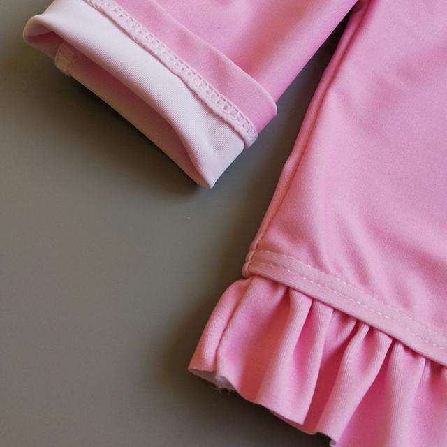 2018 New Pineapple Letter Pattern Children Swimsuits Baby Girls Two Pieces Long-sleeved Bikini Swimwear Infant Bathing Swim Suit