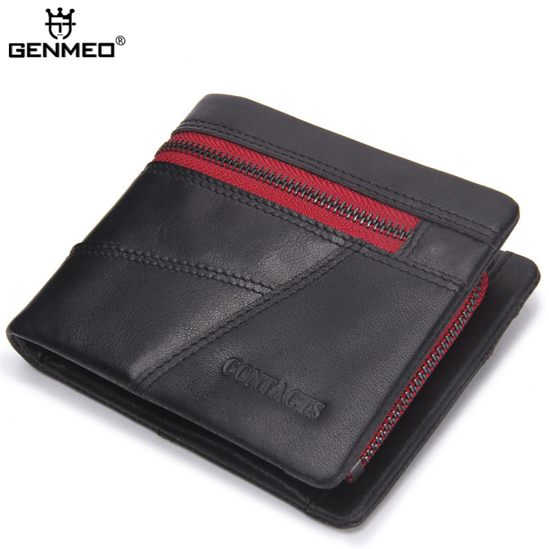 New Arrival Genuine Leather Wallets Men Casual Cow Leather Clutch Bag Real Leather Wallet Credit Card Holder Male Purse Bolsa hot sale new arrival quality men s wallets pu leather casual sim photo credit card holder purse wallet for men free shipping