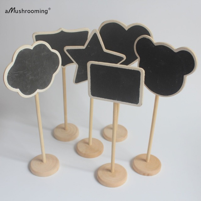 50x Chalkboard Stands Wood Signs Name Place Settings Buffet Food Markers Wedding