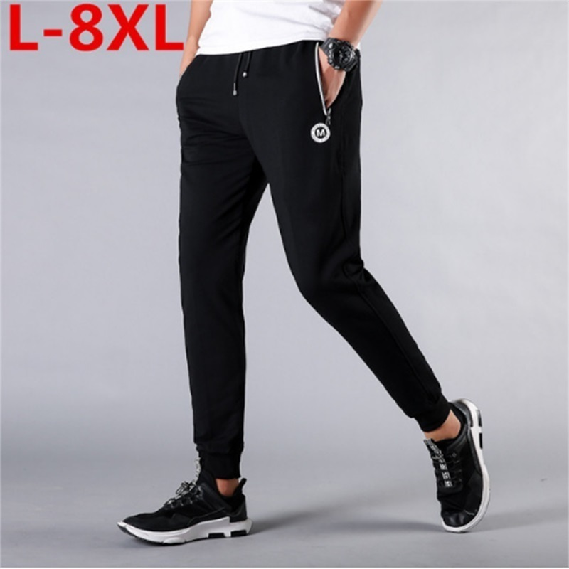 2018 nouveau grande grande taille 8XL 7XL 6XL 5XL hommes coton pantalons Joggers mode vêtements pantalons pantalons décontractés pantalons de survêtement hommes mi-taille