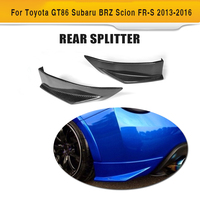 A Brand New GT86 ZELE Styling Carbon Fiber Diffuser Splitters For Toyota Auto Rear Splitters For