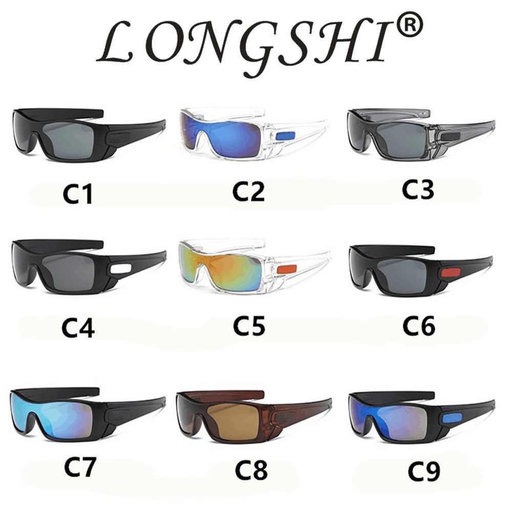 LONGSHI okulary męskie polaryzacyjne aluminium magnezu okulary okulary do jazdy prostokąt odcienie dla mężczyzn óculos masculino mężczyzna