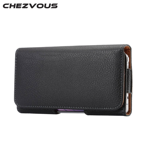 Pu Leather Pouch Holster Belt Clip Bag for Huawei P9 P8 Mate8 Mate 7 Phone Pouch for Honor 8/7i/6 plus Mens Waist Pack Classical