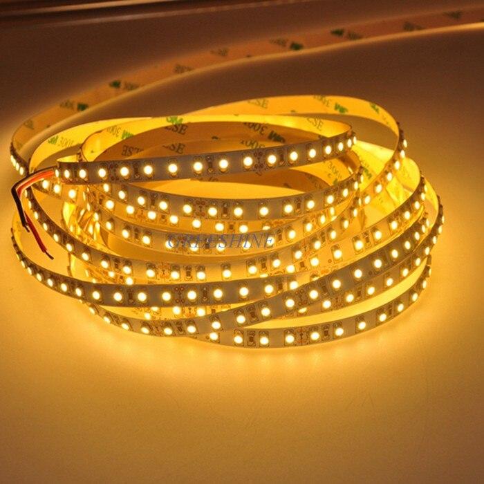 3528 LED Strip Lights Non Waterproof LED12V 24V 5M 120leds Warm White Flexible Tape for Indoor LED Lighting 100M/lot Freeship