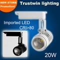 With Lustrous LED High quality 220V 230V 240V high CRI 80 rail spot light LED track lamp 20W