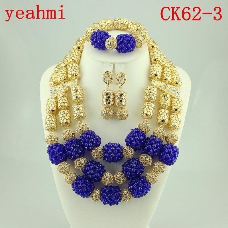 Charmante fête de mariage nigériane perles africaines ensemble Costume africain de mariée indien vert clair bijoux ensemble livraison gratuite CK62-1