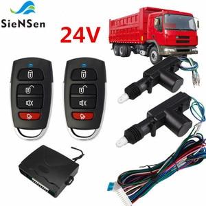 Image 2 - SieNSen 24V Auto Alarm Remote Controls Central Door Locking System Car Security Kit For Truck M615 8101