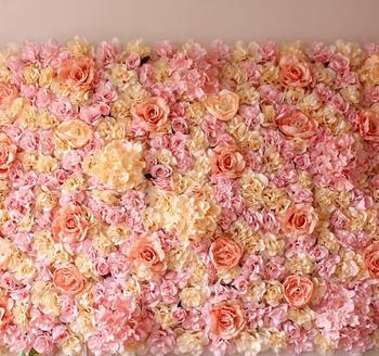 40*60 cm kwiat róży z jedwabiu ścienne romantyczny ślub tło dekoracje Event Party tła ślub tło sztuczne rośliny tanie i dobre opinie FLOWER WALL-72366 Sztuczne Kwiaty Ślub Rose Kwiat Głowy