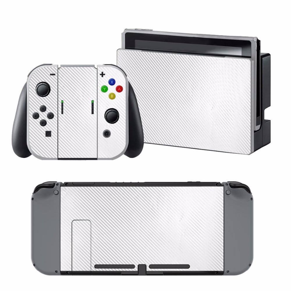 Carbon Fiber Sticker Vinly Skin Sticker Cover Protective for Nintendo Nintend Switch NS Console Protector Cover Decal Vinyl Skin 1