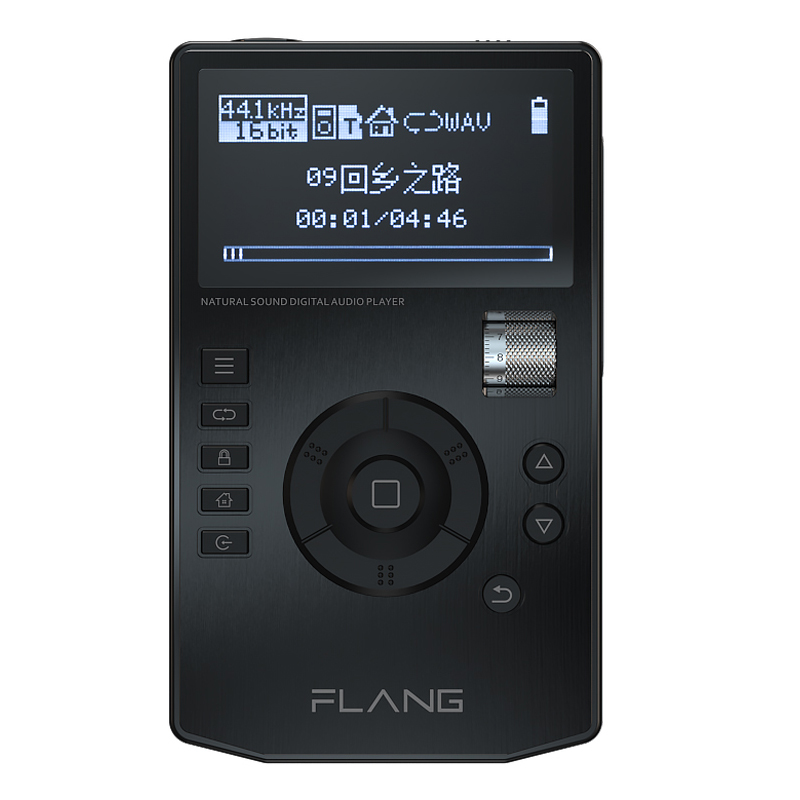 FLANG V5 HiFi Lecteur de Musique Haute Résolution Numérique Sans Perte Audio lecteur w/2.4-Pouces Écran OLED avec Dock Prise En Charge de 128G SD carte