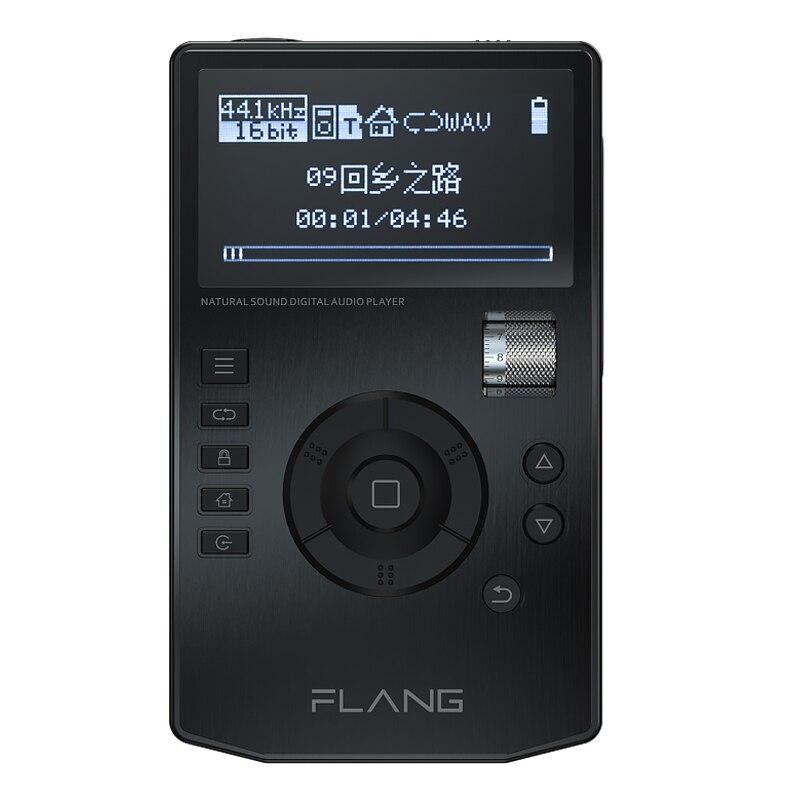 FLANG V5 HiFi Lettore di Musica Digitale Ad Alta Risoluzione Audio Lossless Player w/Schermo OLED Da 2.4 Pollici con Dock Supporta 128G SD carta