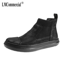 European High Top Shoes Male New Autumn Winter British Retro Men S Boots Genuine Leather Boots