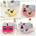 Бесплатная доставка мальчиков и девочек милые кошки конфеты цвет открытым носком тапочки розничная