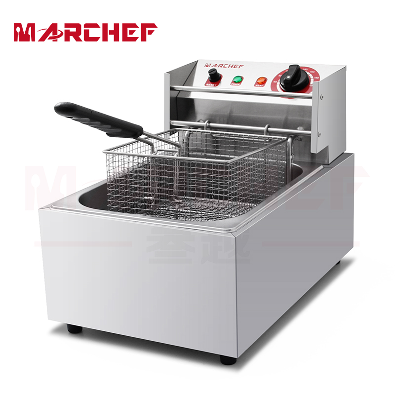 1-Tank 1-Basket 10L Commercial Electric Deep Fryer Frying Basket Chip Cooker Fry salter air fryer home high capacity multifunction no smoke chicken wings fries machine intelligent electric fryer