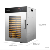 16 layers commercial food dehydrator vegetable fruit dryer Stainless steel food drying machine for seafood/tea/chicken ect. 220v