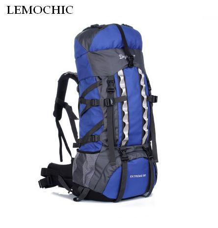 LEMOCHIC High Large Capacity Mountaineering backpack Travel Bags Outdoor Sports Camping Hiking Climbing rucksack 80-100L adjust