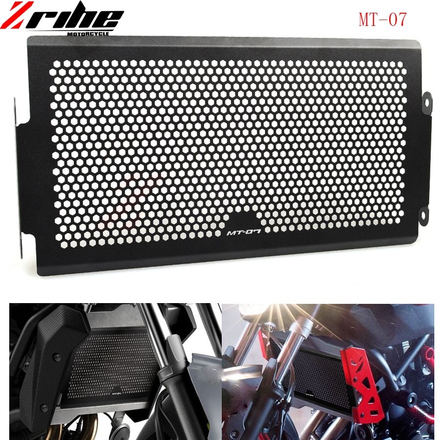 for MT 07 2014-2016 Aluminum Radiator Grille Cover Radiator Protective Grills Guard For Yamaha MT07 MT-07 MT 07 2014-2016 14 15 epman 42mm 2 row aluminum radiator for nissan skyline r33 r34 gtr gtst rb25det mt ep r106rad