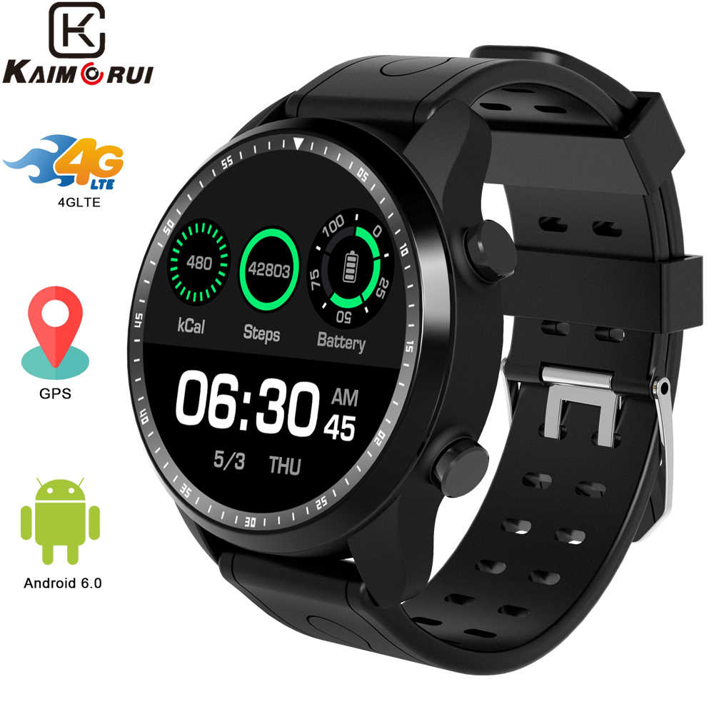 Smart Watch KC06 4G Smartwatch Men Android 6.0 IP67 Waterproof 1GB+16GB Bluetooth Watch Changeable Band for Xiaomi Huawei Phone