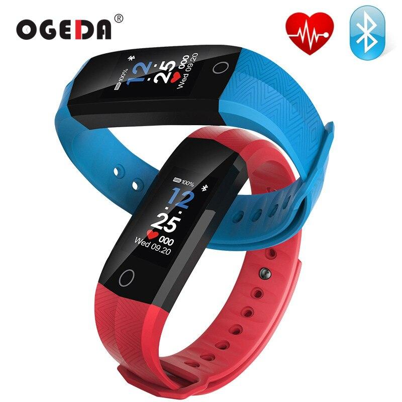 OGEDA Sport Uomini Della Vigilanza Del Braccialetto CD02 Intelligente Polso Banda Heart Rate PPG Sedentaria Promemoria Orologi Intelligente per IOS Android