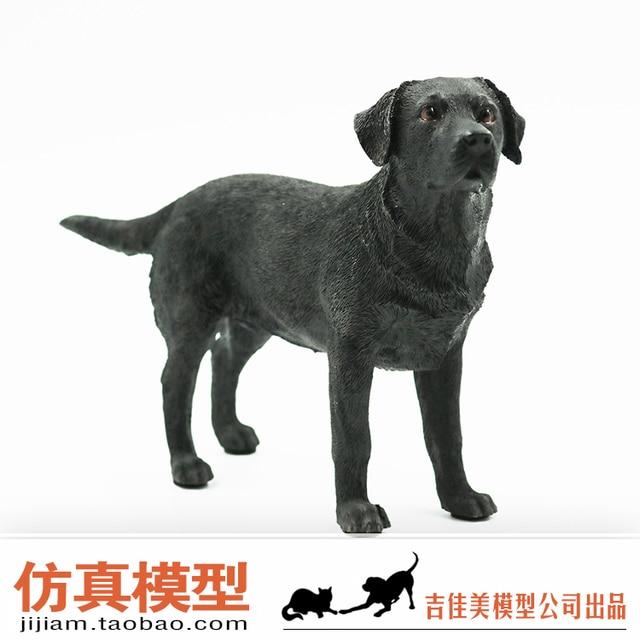 Terrarium Fairy Garden Figurine Black Labrador Dog Animal Model Simulation  Resin Puppy Handicrafts Sculpture Collection