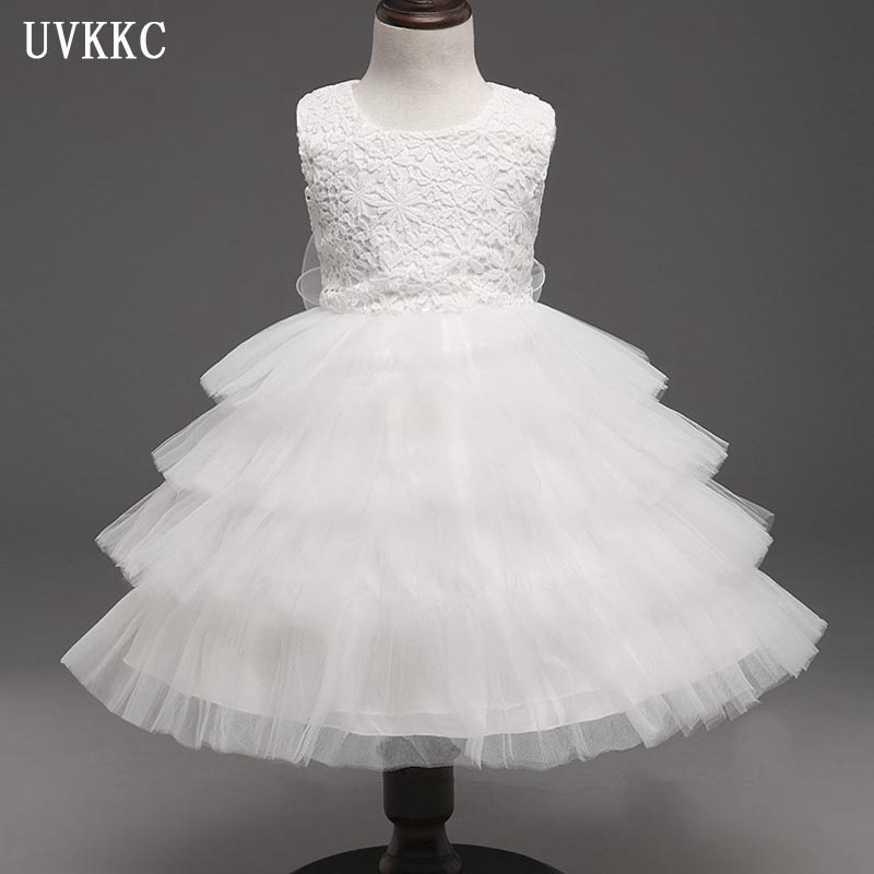 2018 Brand New Flower Girl Dresses White Party Pageant Communion Dress Little Girls Kids/Children Dress for Wedding Summer Dress new brand flower girl dresses ivory real party pageant communion birthday party girls kids bridesmaid toddler wedding dress d10