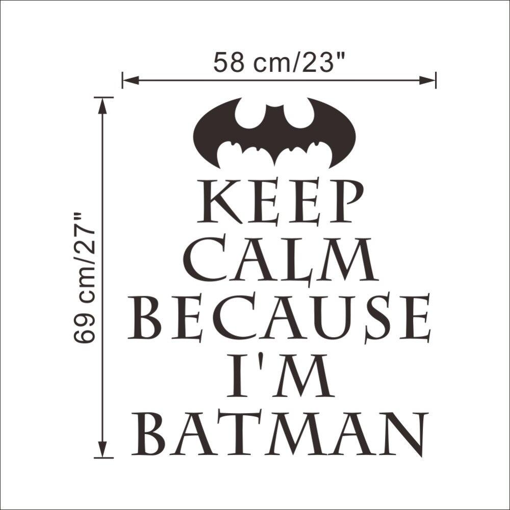Halten Sie Ruhe Weil Ich Bin Batman Zitate Wandaufkleber Für
