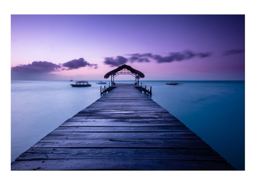1 Panel Beautiful Sunset With Viewing The Raft Large HD Picture Modern Home Wall Decor Canvas Print Painting For House Decorate