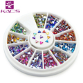 KADS 1.5*3mm AB Color Triangle 600pcs12Style Colorful Nail Art Tips Crystal Rhinestone Fushion Nail Art DIY Decoration