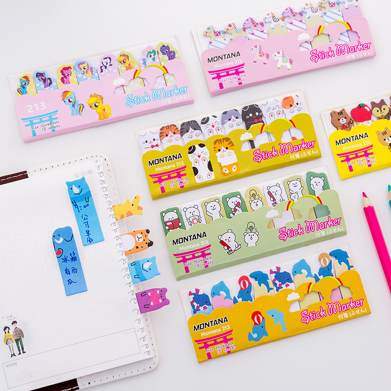 Stationery Note Scrapbooking N Times Sticky Notes Bookmarks Animal Memo Pad