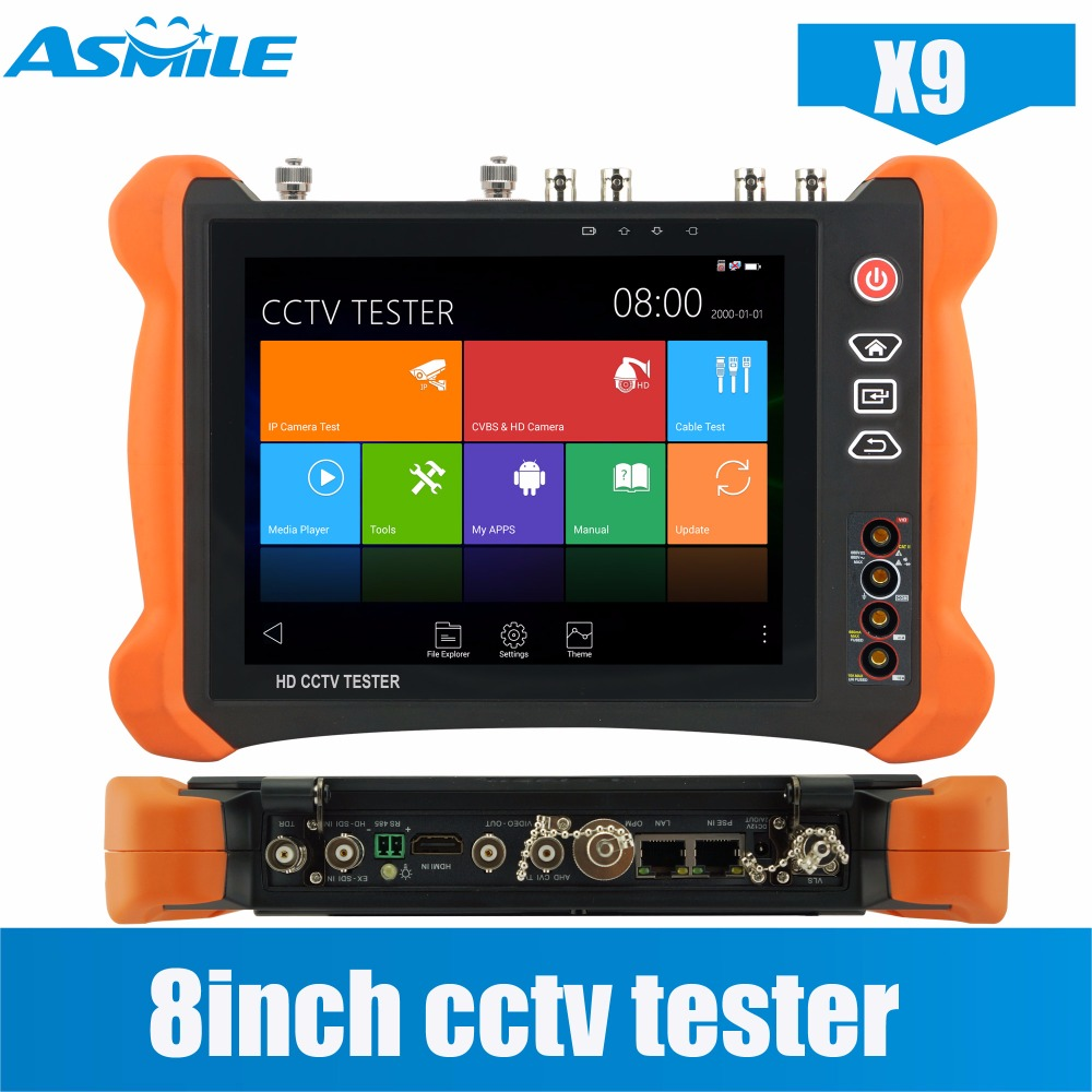 цена на CCTV Tester H.265 4K IP Camera tester X9 8MP TVI CVI 5MP AHD SDI CVBS CCTV Tester Monitor with Cable tracer,HDMI In/4K output