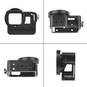 Image 4 - SHOOT CNC aluminiowa obudowa ochronna klatka dla GoPro Hero 7 6 5 czarna z 52mm klatka na obiektyw UV dla Go Pro Hero 7 6 akcesoria