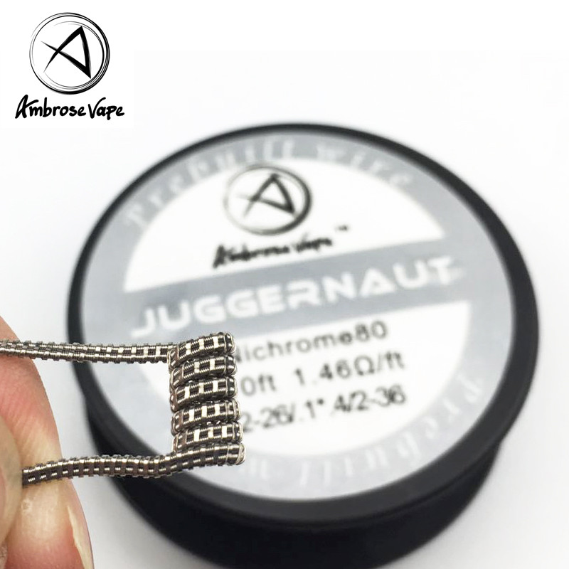 Ambrose 3m/roll Juggernaut/Super Alien Coil Nichrome Wire Prebuilt coils Heating Wire for E-cig RDA RBA RTA Rebuildable Atomizer цены