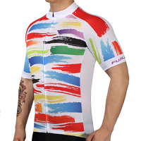 2018 Clothing Ropa Ciclismo Invierno Bike JerseyRainbow Element Bicycle Mtb Speckle Cycling Jersey Only Short Sleeve