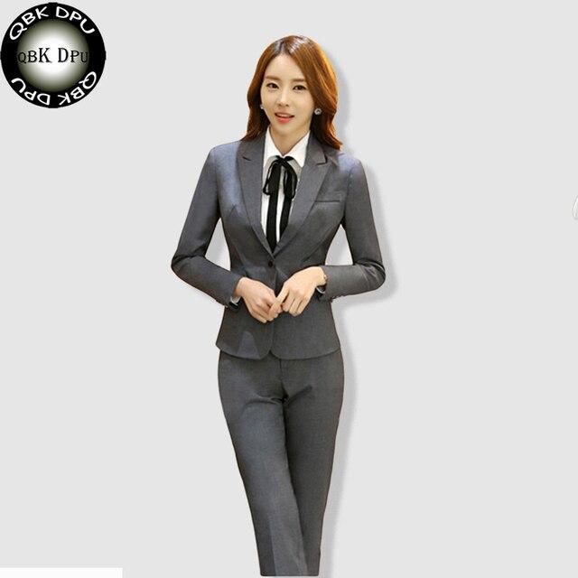 0a0bf94a6546 QBK DPU marchi di abbigliamento di affari sottile Ufficio OL abbigliamento  blazer feminino 2017 nuovo arrivo