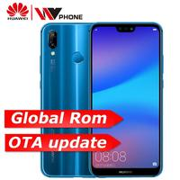 huawe p20 lite global rom Nova 3e Face ID Mobile Phone Octa Core 5.84 inch android 8.0 full screen Fingerprint