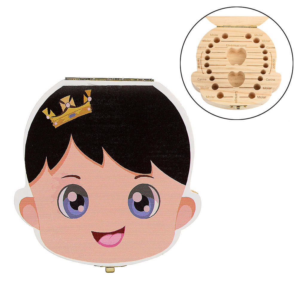 Модная Милая коробка для прорезывания зубов для мальчиков, органайзер для зубов молока, ящик для хранения дерева, супер качество, зубная коробка, dentes de leite organizad