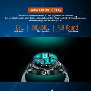 """Image 4 - Zeblaze NEO 1.3 """"كامل مستدير شاشة تعمل باللمس Smartwatch ضغط الدم مراقب معدل ضربات القلب الإناث الفسيولوجية تحقق العد التنازلي ساعة"""