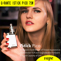 G RANTE Istick Pico 75W Box Mod Kit Vape Electronic Cigarette Add MELO 3 Mini Atomize