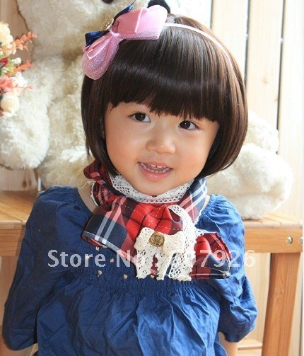 Latest Hot Baby S Short Hair Wig Adjule Korean Style 2