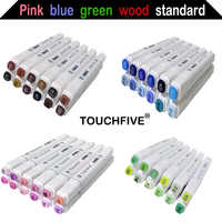 Sketch Art Marker Twin Tip Manga Animation Design Art Supplies for Painting Illustration 12/24/30 Colors TouchFive Art Marker