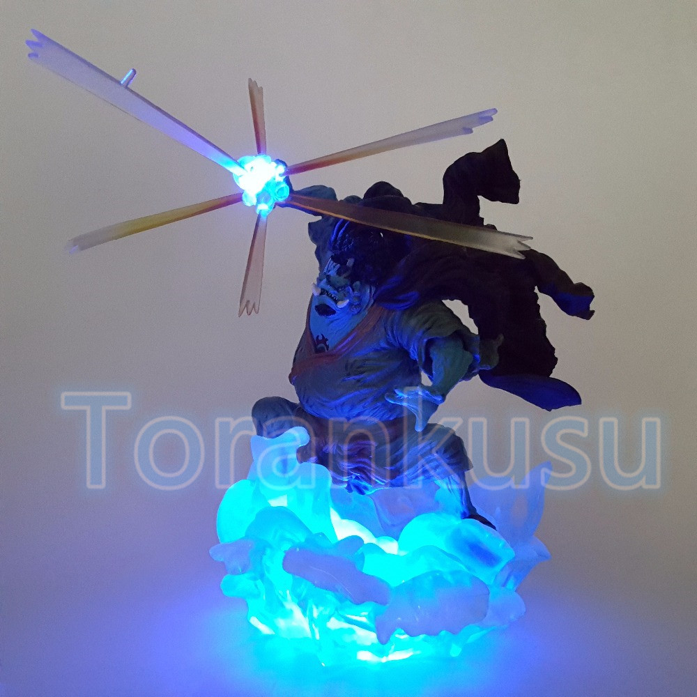 One Piece Action Figure Jinbe With Led Effect DIY Display Toy 170mm Anime One-piece Jiinbe Luffy Zoro Model Doll DIY116 anime one piece dracula mihawk model garage kit pvc action figure classic collection toy doll