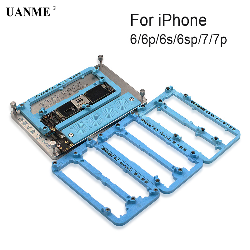 UANME 6 in 1  Logic Board Clamps Metal PCB Board Holder Fixture Work Station for iPhone 6 6S 7 Plus Fix Repair Mold rapid fixture clamps fixture clamp fastening compactor gh101a