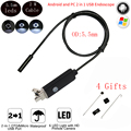 2M 2 in 1 USB Waterproof Endoscope HD 640x480 5.5mm Lens 6 LED Borescope Inspection Camera USB Endoscope For PC Android OTV UVC