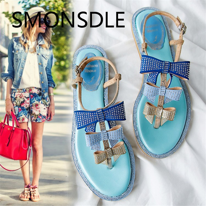 2018 Summer New Women Gladiator Sandals Casual Genuine Leather Buckle - Women's Shoes