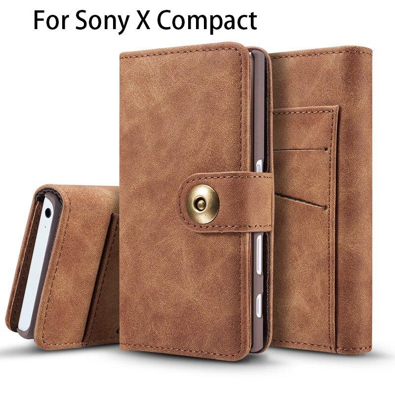 Чехол с магнитной Съемная для Sony Xperia X Compact бумажник флип чехол Магнитная для Sony X Compact кожаный чехол флип