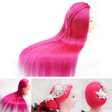 New Style Hair Training Mannequin Head For Hairdressers 60CM With Professional Styling