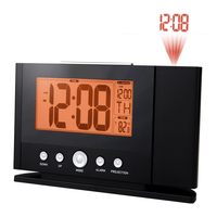 2017 NEW Digital Projection Clock Ceiling Wall Alarm Snooze Timer Watch Constant Time Projector LCD Thermometer