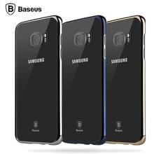 BASEUS ультра тонкий Тонкий прозрачный чехол для Samsung Galaxy S7 край роскошный покрытие кадра основа жесткий чехол Для S7 край